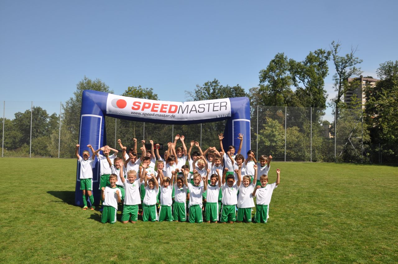 speed measurement system and the inflatable goal-highlight for kids